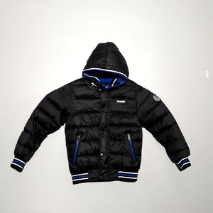 Diesel Kids Puffer Coat with Removable Hood 10-12